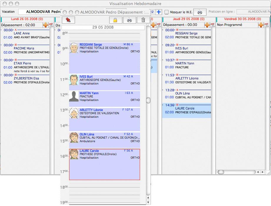 Gestion des vacations osoft logiciel de gestion du - Logiciel de gestion de cabinet medical ...